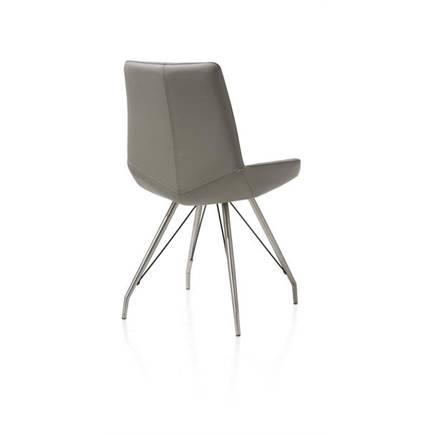 henders en hazel levi eetkamerstoel rvs spin frame catania leder lichtgrijs lubbers wonen. Black Bedroom Furniture Sets. Home Design Ideas
