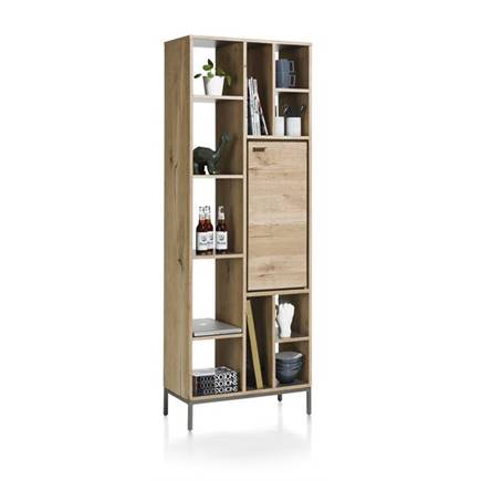 xooon boekenkast 1 deur 11 niches 70 cm
