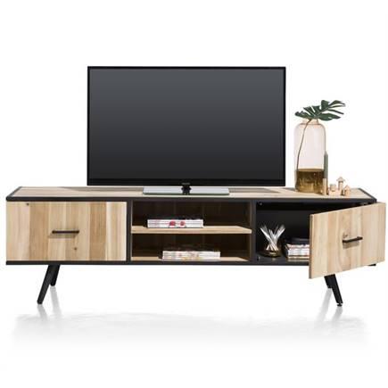 xooon kinna tv meubel 1 deur 1 lade 2 niches 190 cm lubbers wonen slapen. Black Bedroom Furniture Sets. Home Design Ideas