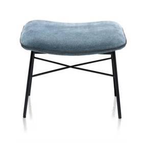 Uitgelezene XOOON QUINT fauteuil - poef / hocker bij lounge - stof Enova Teal BB-12