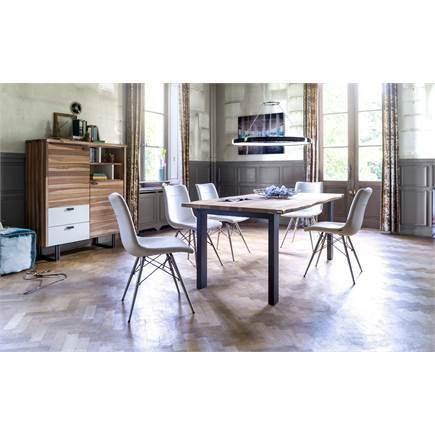 xooon vista eetkamertafel bureau 140 x 80 1 lade 1 niche lubbers wonen slapen. Black Bedroom Furniture Sets. Home Design Ideas